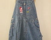 Mickey Mouse and Butterflies Overall Short Shortalls