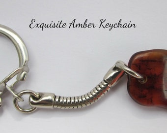 "Baltic Amber ""Exquisite Amber"" Keychain FREE SHIPPING"