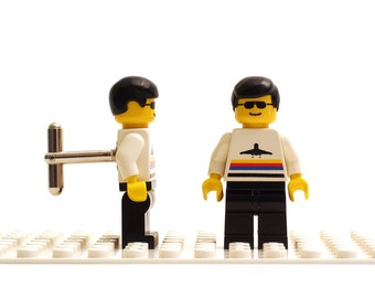 Pilot with airplane symbol cufflinks. Cufflinks made with LEGO(R) bricks.    Cuff links Wedding gift