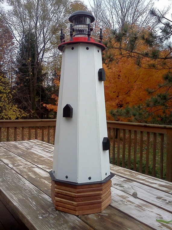Solar Lighthouse Wooden Decorative Lawn And By Decorstorehouse