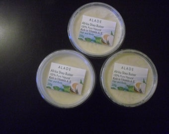 100% shea butter good for any type of hair and body.