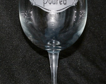 Dinner is Poured Wine Glass, Humorous Gift