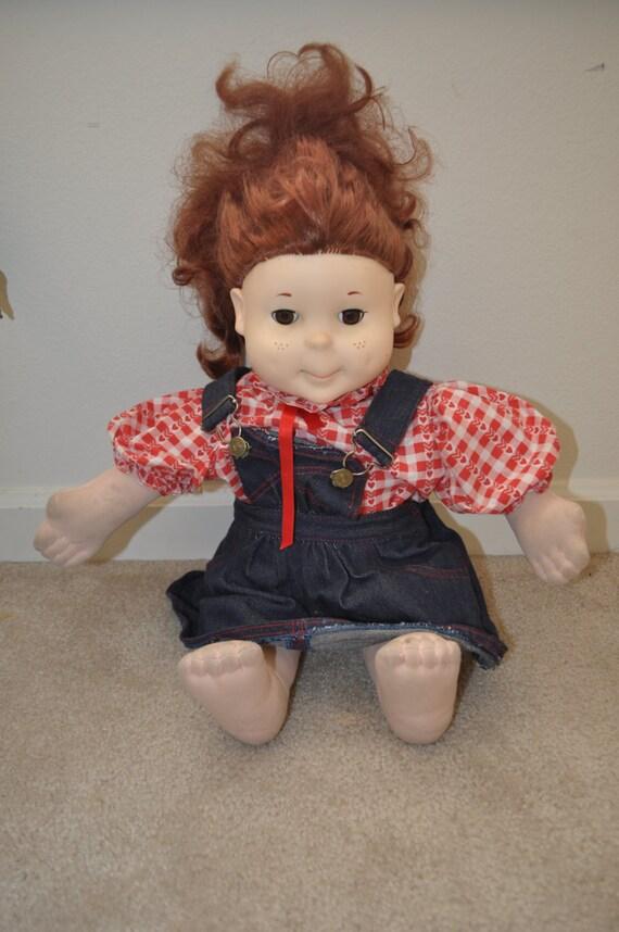 1986 Kid Sister Doll By Playskool Stuffed Soft Body And
