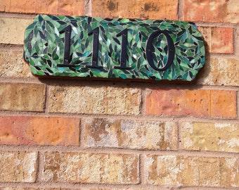 Mosaic Address Plaque