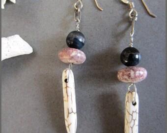 Jasper Spike Dangle Earrings