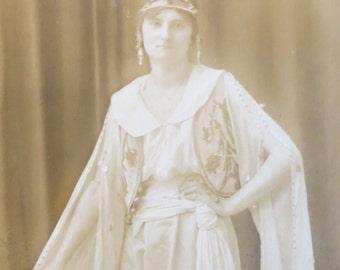 Original 1910's Opera Star in Full Costume Real Photo Postcard - Free Shipping