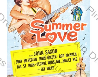 Vintage Rock n Roll Wall Art Poster Print Summer Love re-print Various Sizes