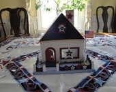 Charming July 4th house for your table.
