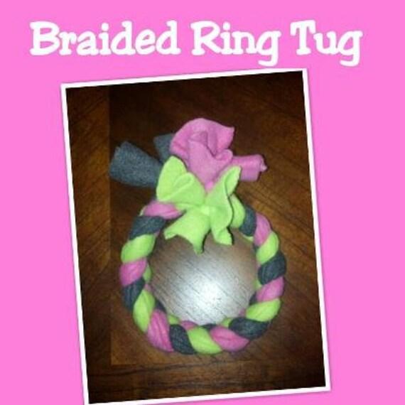 Make Dog Tug Toy: Items Similar To SMALL Braided Fleece Dog Ring Tug Toy On Etsy