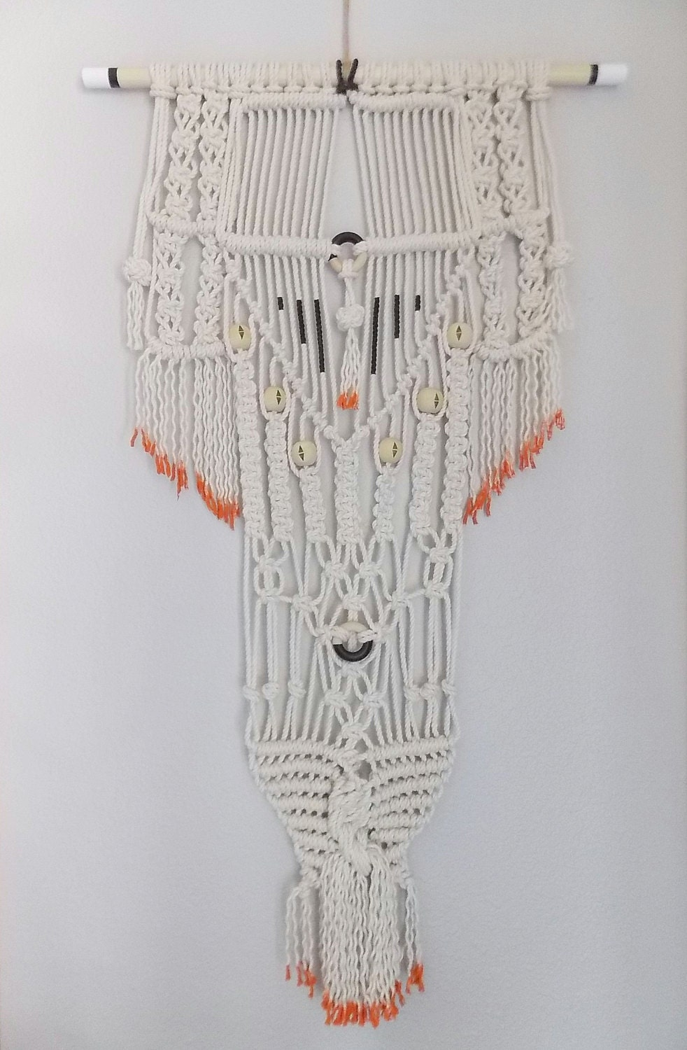 Modern macrame knotted wall hanging by himo for Hanging wall decor