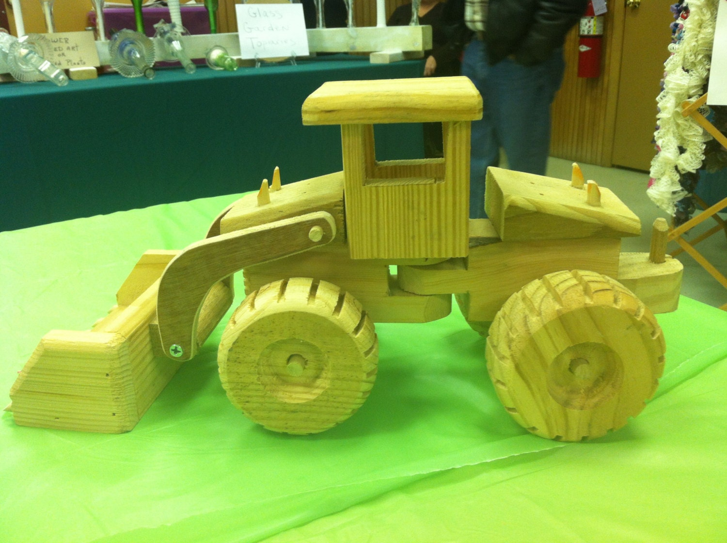 Handmade Wooden Toys Backhoe Tractor by aLittleWoodenToyShop
