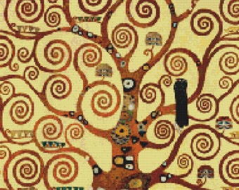 The Tree of Life, Stoclet Frieze 190x284 Blended Colors PDF Cross Stitch Pattern