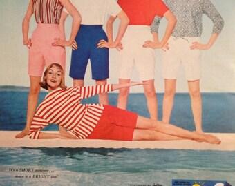 Retro Summer Surf Ad from 1962, Surf adds brightness.