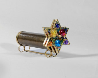 Star of David Kaleidoscope, Judaica kaleidoscope, Short Giant Star of David Kaleidoscope