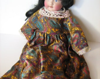 Beautiful Faced Old Doll Coth Body / MEMsArtShop