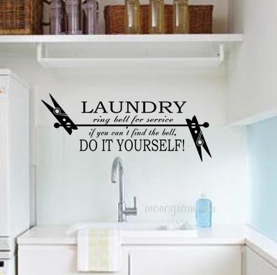 Https Www Etsy Com Listing 151289098 Laundry Room Vinyl Wall Decal Br Feed Tlp Home Garden