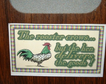 Rooster Refrigerator Magnet (Business Card Size)