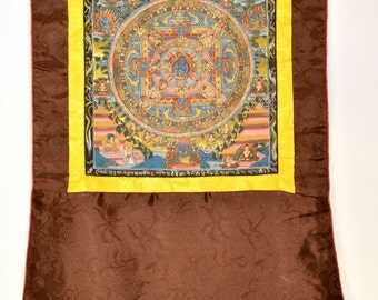 Chakrasamvara mandala (no. 3) - Buddhist Thangka painting from Tibet