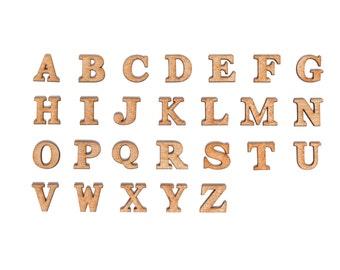 "2"" Single Layer Wood Alphabet"