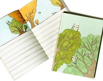OWL JOURNAL - Owl Diary Owl Note Book Owl Gift - Baby Journal - Teen Girl Gift - Gift for Girl - Girlfriend Gift - boygirlparty