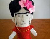 Frida Kahlo Felt Finger Puppet - Free shipping!