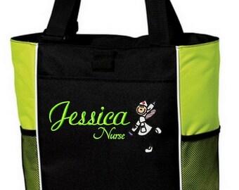 Personalized  Nurse Fairy Tote Bag Handbag Nursing Student Graduate RN CNA LVN Customized