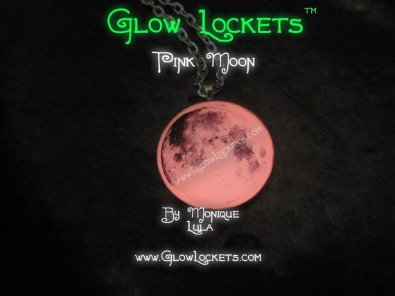 Full Pink Moon Real Space Glow in the dark 1""
