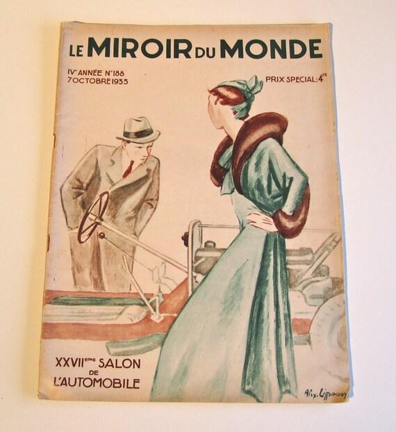 Vintage magazine french le miroir du monde 1933 featuring for Les baladins du miroir
