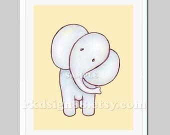 Baby boy nursery elephants for boys room children decor My Elle 8 x 10 baby shower gift