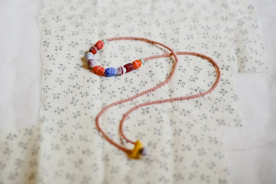 SALE magnol-y'all collection: peach cobbler - a matte glass beaded necklace
