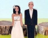 Custom Wedding Cake Topper Couple