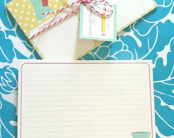 Retro recipe cards, 4 dozen recipe cards, personalized recipe cards, bridal shower recipe cards, shower favor recipe cards