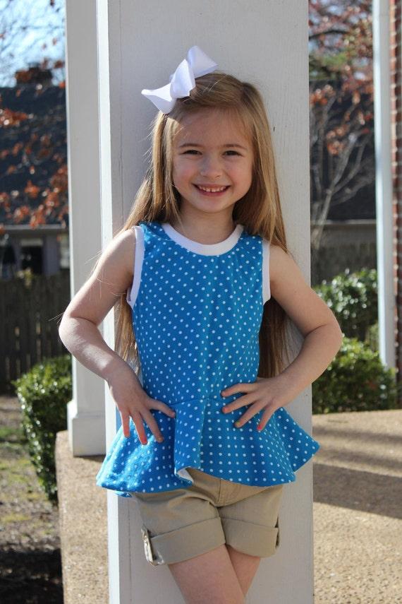 Sassy Knit Peplum Tank Top Sizes 1 7 Etsy