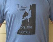 Men's Rock Climbing T Shirt  - I'll Take Mine On The Rocks