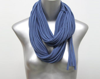 Infinity Scarf, Chunky Scarf, Circle Scarf, Gift For Her,Blue Chunky Scarf, Blue Infinity Scarf, Gift Ideas, Hipster, Blue Circle Scarf