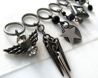 The Edge of Glory - Six Handmade Stitch Markers - Fits Up To 8.0 mm (11 US) - Limited Edition