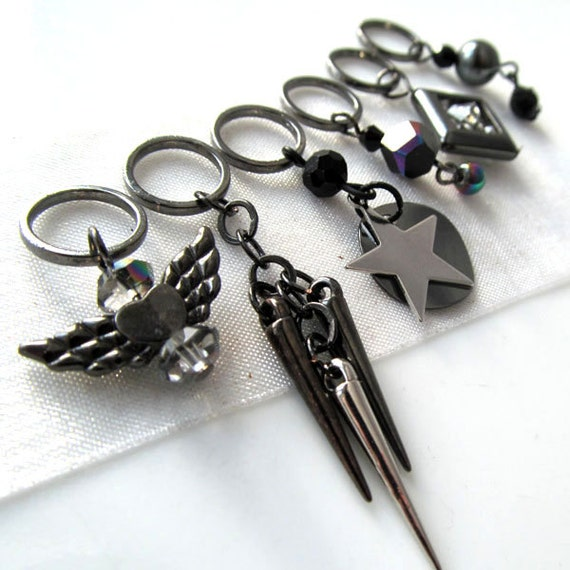 LAST SETS - The Edge of Glory - Six Handmade Stitch Markers - Fits Up To 8.0 mm (11 US) - Limited Edition