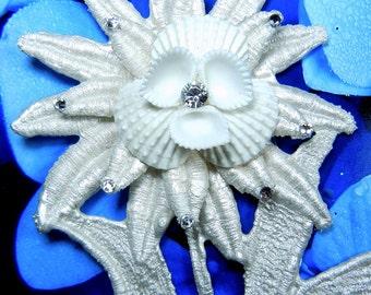 Seaflower -  Seashell Lace Corsage