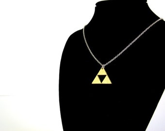 Zelda triforce gold necklace - small