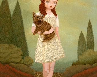 Dorothy & Toto Print 8x10 - Children's Art, Girls Room Art, Girl Art Print, Poster, Fairytale Art, Decor, Cute, Kids Art, Wizard Of Oz
