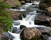 Waterfall Rocky Mountain National Park Cascade Falls Forest Colorado Rustic Cabin Lodge Photograph