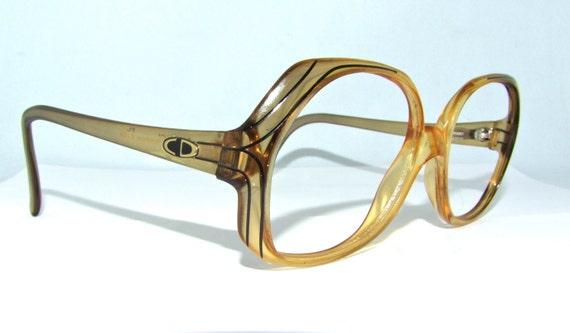 Vintage Dior Eyeglass Frames : SALE // Vintage 1980s DIOR Eyeglasses // 80s by ifoundgallery