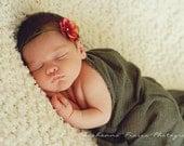 Newborn Baby Headband, Newborn Girl Photo Props, Small Baby Headband, Infant Flower Headband, Newborn Girl Photography Props