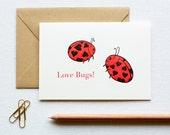 Ladybug Letterpress Box of 6 Cards