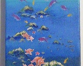 Original acrylic painting pink starfish