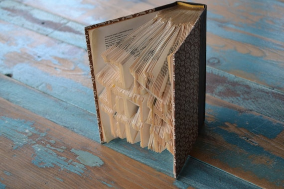 Ani Ohev Otach - Reader's Digest Condensed Books - Folded Book Art - Recycled, Repurposed, Reclaimed