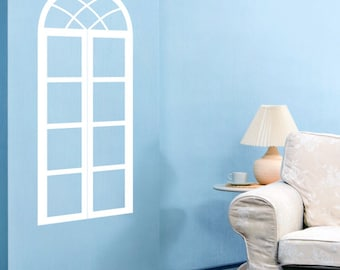 French Style Faux Window Vinyl Wall Decal