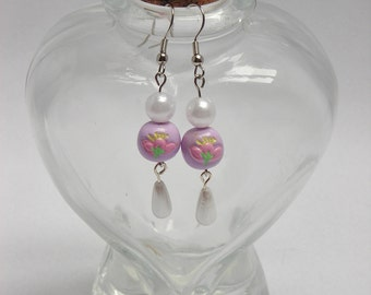 Sweet Classic Cherry Blossom Pearl Earrings Available in 4 colors