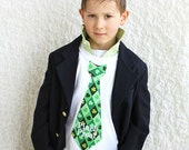 Pinch Proof or Any Personalized St. Patrick's Day Tie Tee T-Shirt.  Any St Patrick's Day Fabric.  Luck of the Irish,  Kiss Me I'm Irish