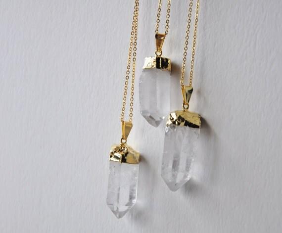 Quartz Crystal Necklace Quartz Crystal Necklace